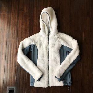 Columbia XS White Hoodie Fleece Jacket Insulated